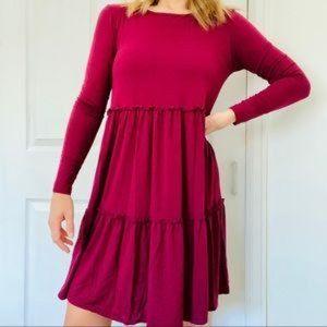 Beautiful Fuscia Tier Ruffle Dress